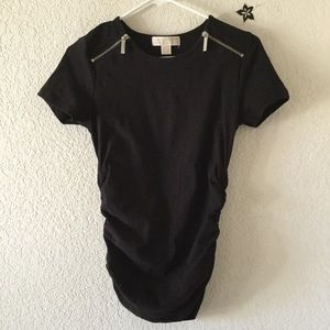 Michael Kors Black fitted blouse